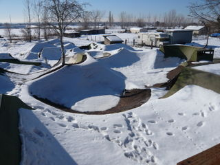 Matts snowy yard.